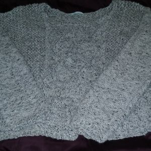 Open weave/knit pullover sweater EUC, size L